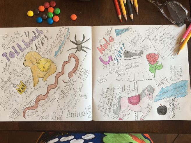 sketchnote and visual journal reading